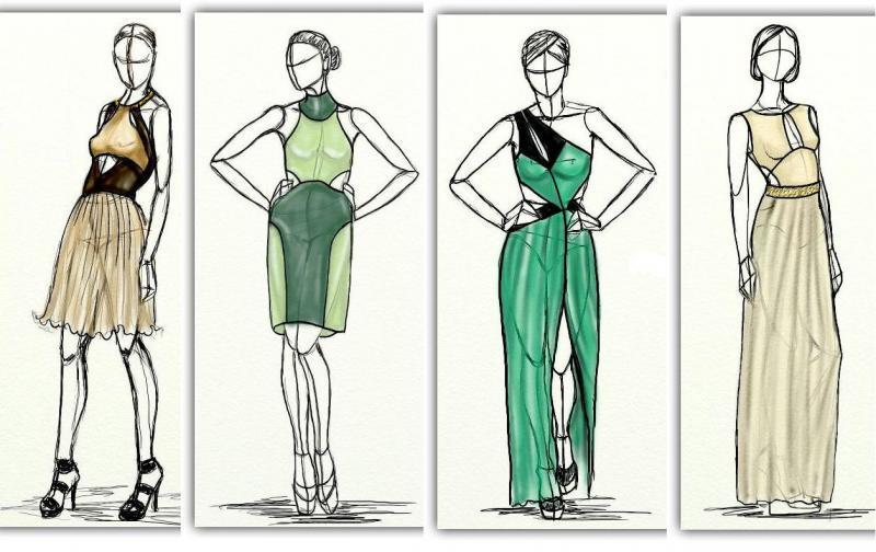 диета, переделаем старое платье, новинки одежды 2014, модная одежда, показ моды, Эскизы, похудение, красота